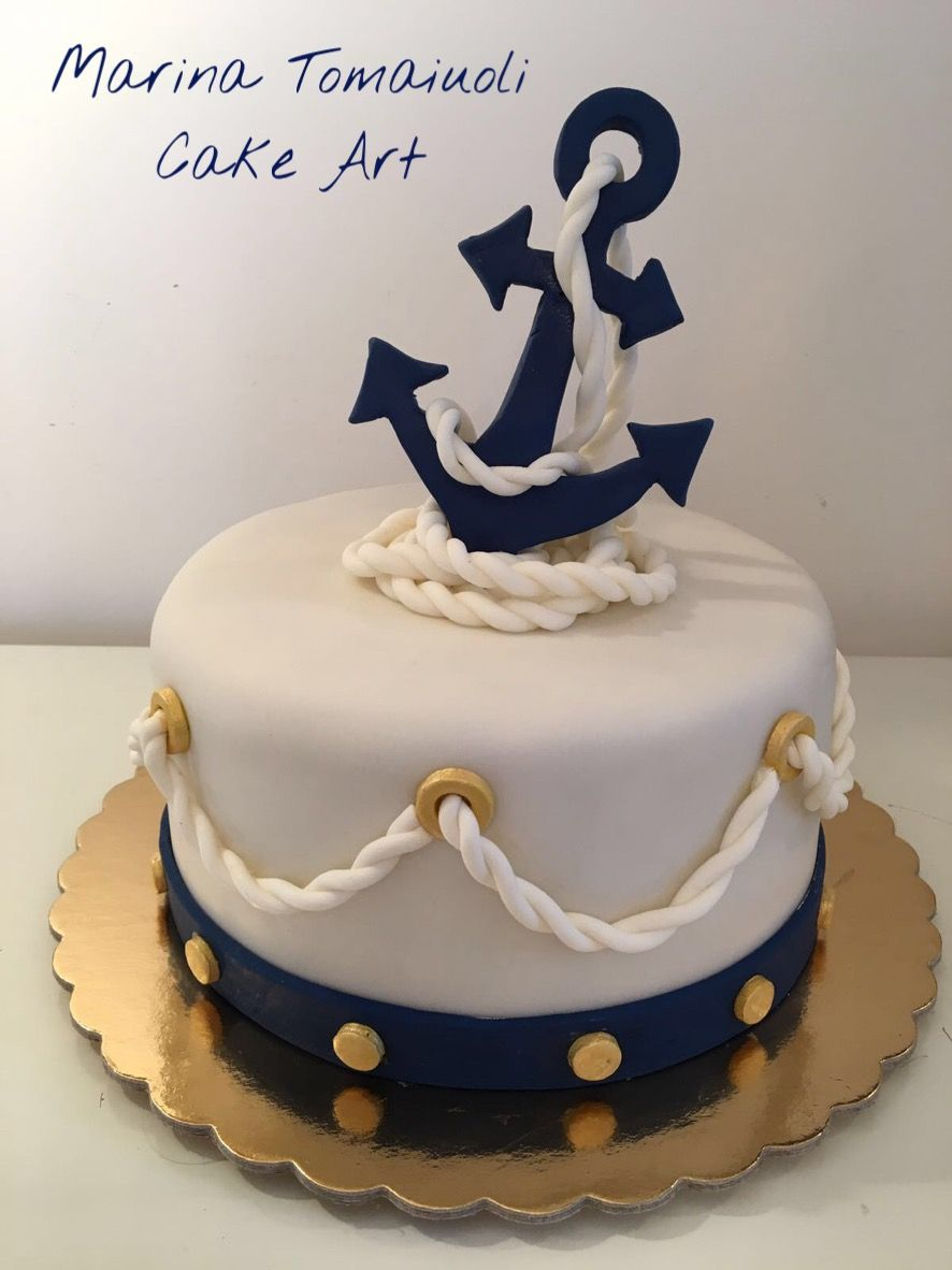 Admirable For The Top And Maybe Two More Matching Layers Nautical Cake Personalised Birthday Cards Veneteletsinfo