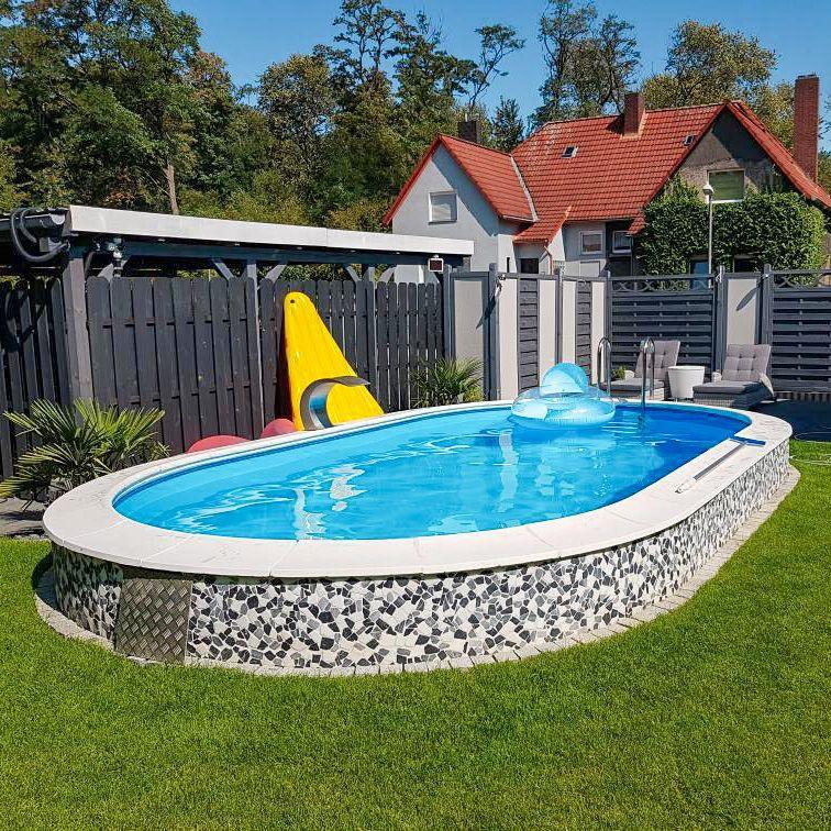 Ovalpools Aus Stahl In 2020 Ovaler Pool Pool Ovalpool