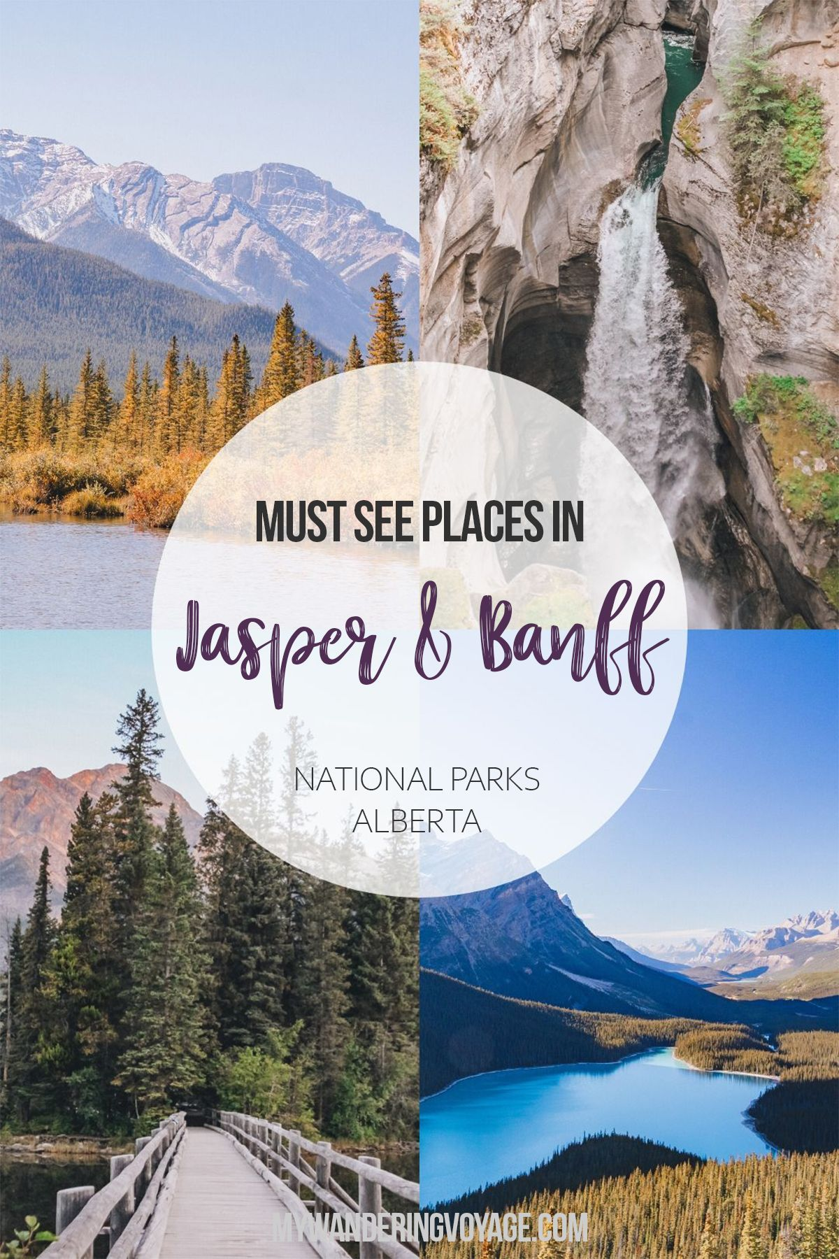Must see places between Jasper and Banff National Parks Alberta Canada – No trip to Canada is complete without experiencing the Canadian Rockies in Jasper National Park and Banff National Park. Here are the best places to stop along the Icefields Parkway and beyond. | My Wandering Voyage travel blog #Jasper #Banff #style #shopping #styles #outfit #pretty #girl #girls #beauty #beautiful #me #cute #stylish #photooftheday #swag #dress #shoes #diy #design #fashion #Travel