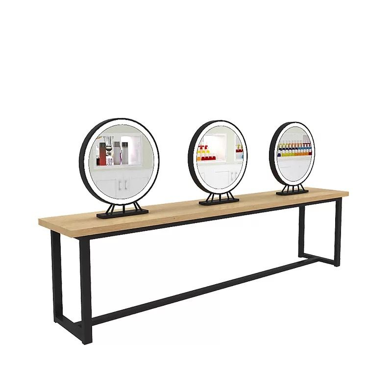 Led Beauty Salon Barber Mirror Station Double Sided ...