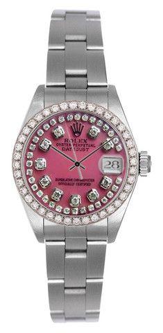 rolex datejust ladies pink mop string diamond dial u0026 diamond bez limited watches buy new u0026 used rolex watches
