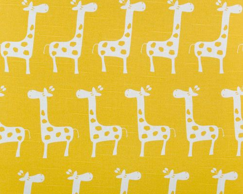 Premier Prints Stretch Corn Yellow And White Giraffe Gia Fabric By The Yard