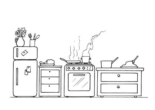 Kleurplaat keuken | coloring pages | Pinterest | Restaurants ...