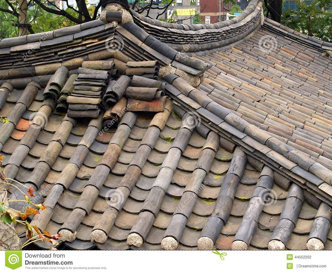 Traditional bamboo style ceramic roof tiles seoul south korea photo about traditional bamboo style ceramic roof tiles seoul south korea dailygadgetfo Choice Image