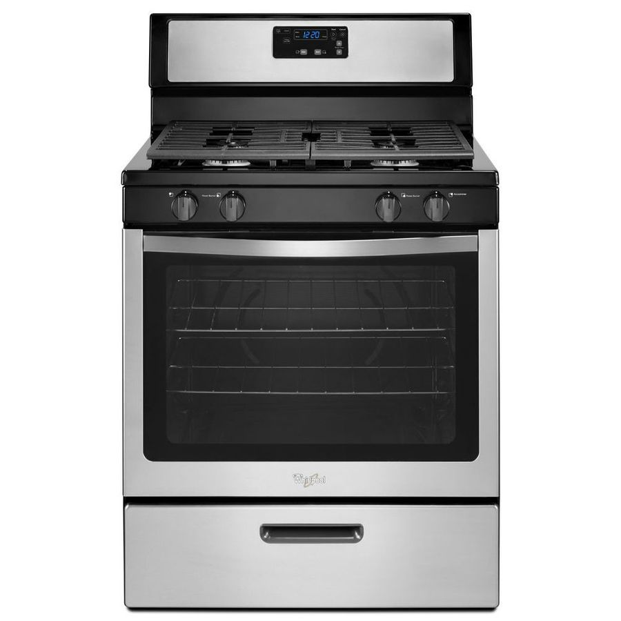 Whirlpool Freestanding 5 1 Cu Ft Gas Range Stainless Steel Common