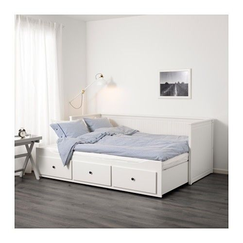 Hemnes Daybed Sofa Expands To Double Bed Ikea Good Reviews