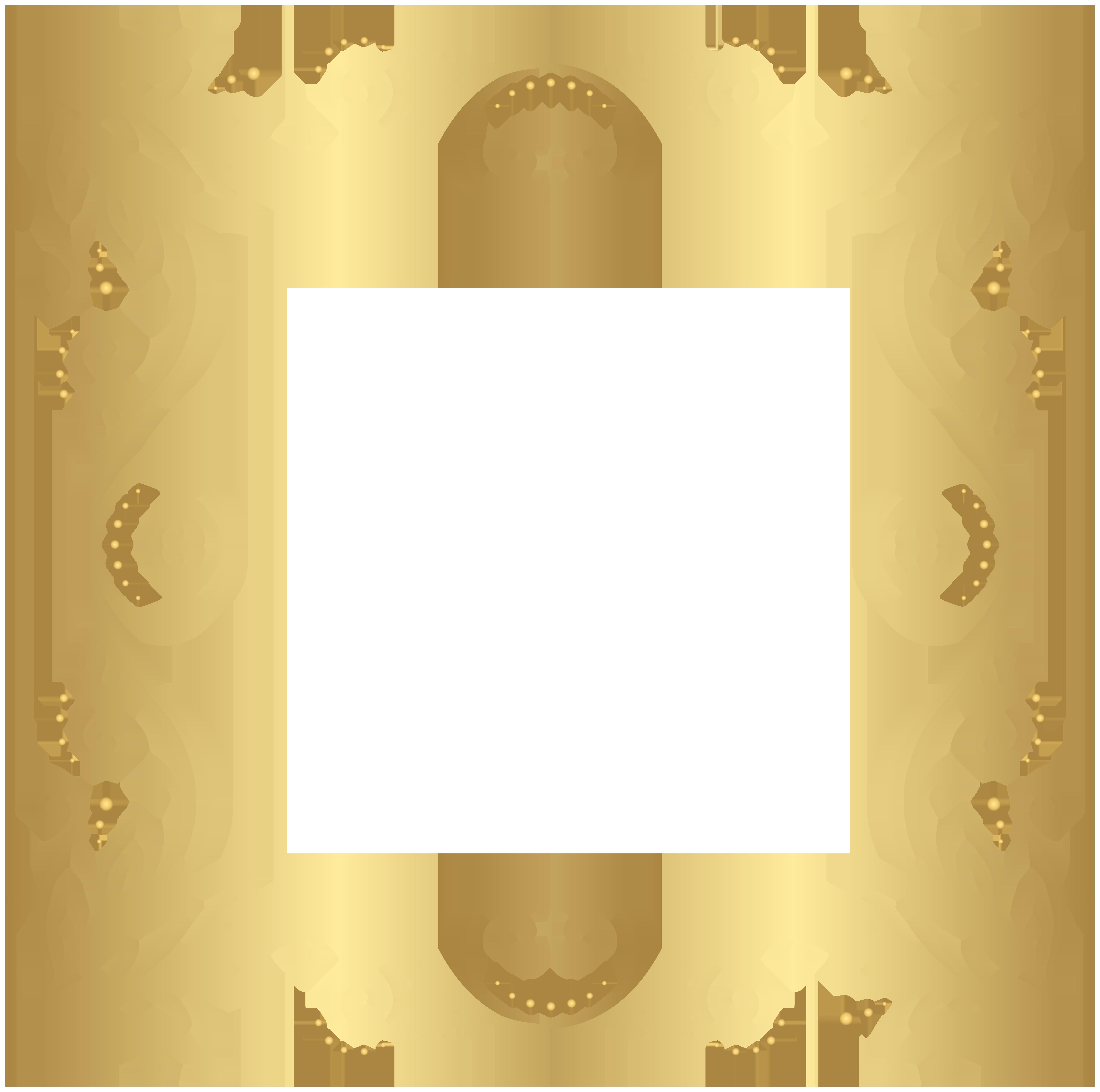 gold border frame png clip art image crafts pinterest