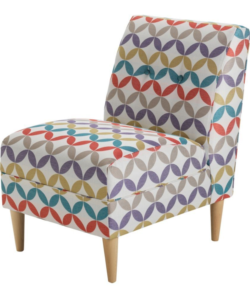 Armless Chair Uk Purple Kids Desk Buy Fabric Geometric At Argos Co Your Online Shop For Armchairs And Chairs