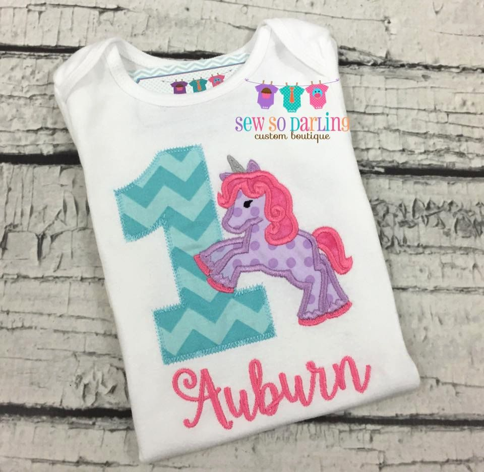 Girl 1st Birthday Unicorn Shirt Unicorn Birthday Shirt