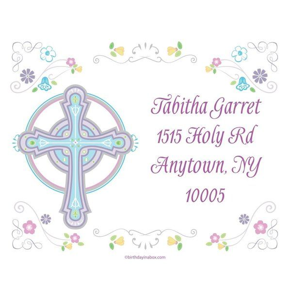 Religious Party Personalized Address Labels (Sheet of 15