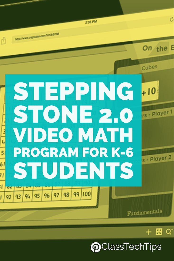 Stepping Stones 2.0 Video Math Program for K-6 Students | Maths, Pre ...