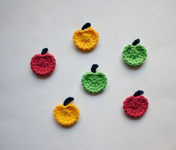 Instant Download - PDF Crochet Pattern - Apple Applique - Text ...