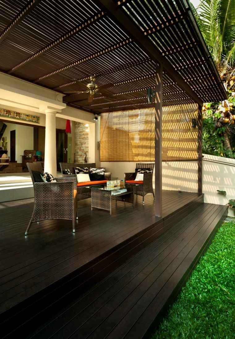 Deco Veranda Interieur déco de véranda en bois de style balinais   deco des iles