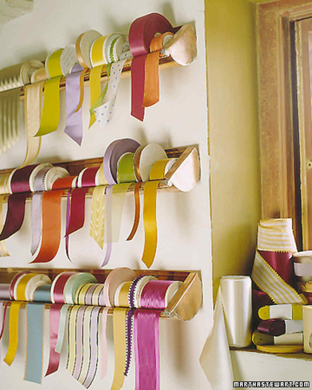 51 Luxury Living Rooms And Tips You Could Use From Them: Ribbon Storage, Sewing Room
