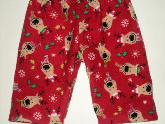 Baby Size 3 Mo To 24 Mo. here: www.etsy.com/listing/204615287/    These fun little Reindeer flannel pajama pants will be cozy for your little boy