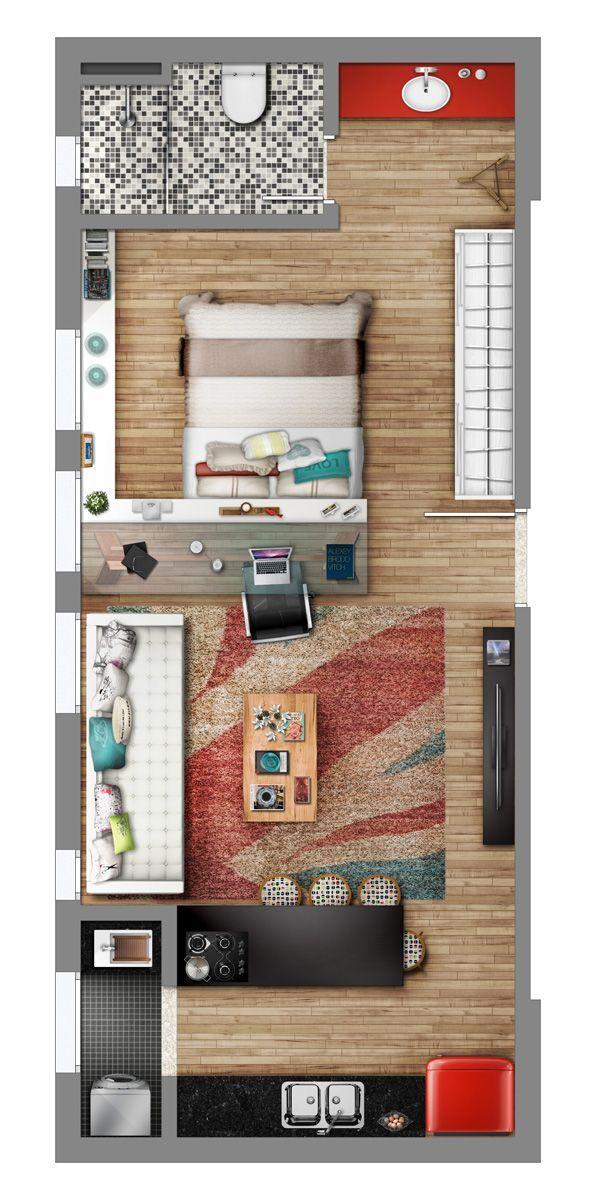 La queremos!! Neorama - Floor Plan - Smart/Lageado 167 Casas