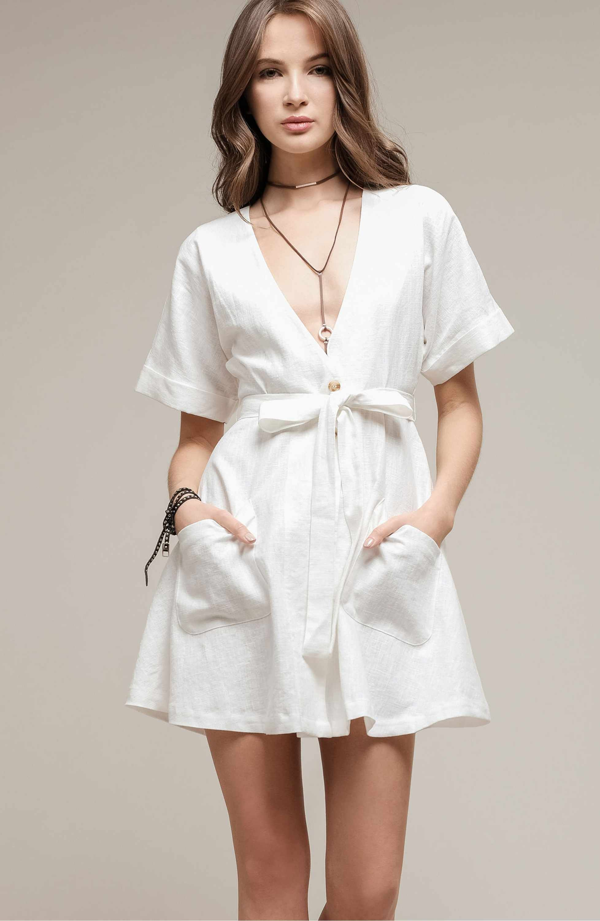 Cotton Button Front Dress