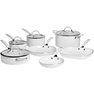 Get Cooking With Bella 11 Pc Ceramic Nonstick Cookware Set With