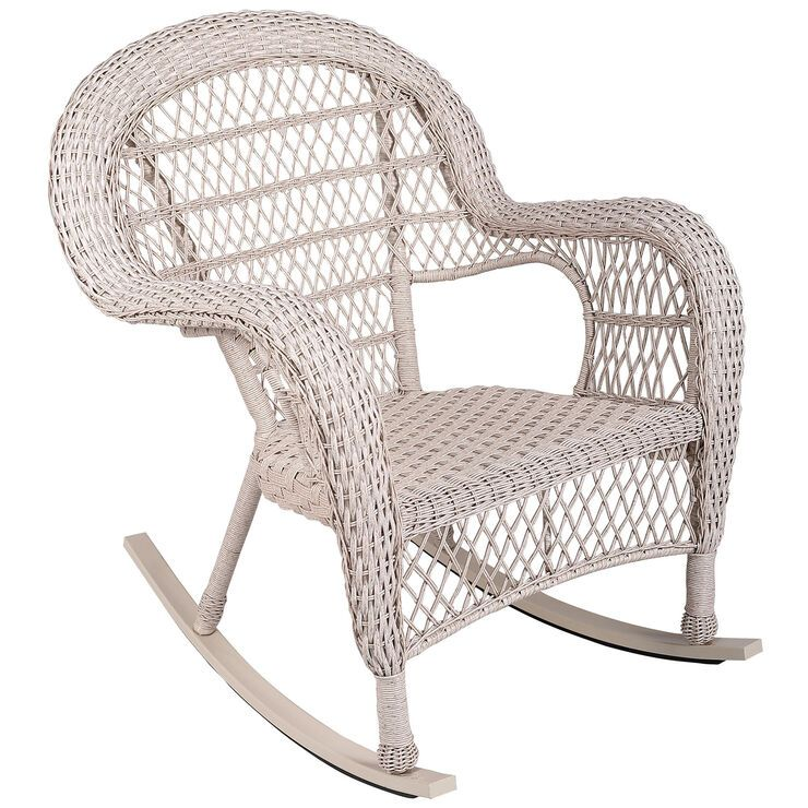 Yara Rocking Chair With Cushions Outdoor Wicker Rocking Chairs Patio Rocking Chairs Wicker Rocking Chair