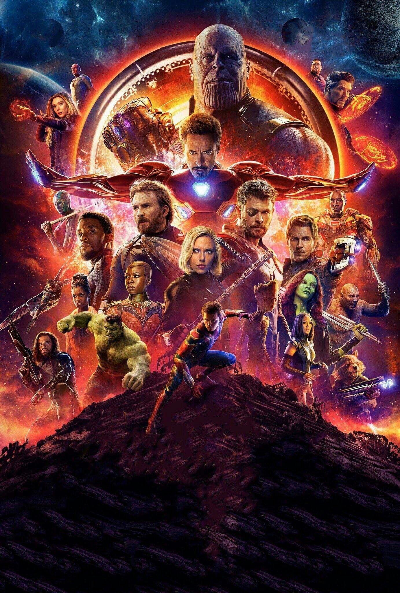 Poster Avengers 3 Vingadores Gerra Infinita Marvel