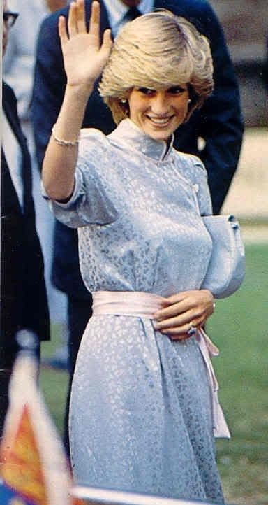 Princess Diana, 22, was greeted by large and enthusiastic crowds in King's Lynn. She was on her first official engagement to her 'home' county of Norfolk to attend the opening of the Lynn Festival – a concert at St Nicholas' Chapel in July 1983.