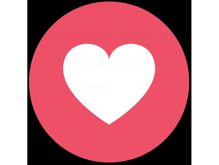 Facebook Love Icon transparent image. Download free