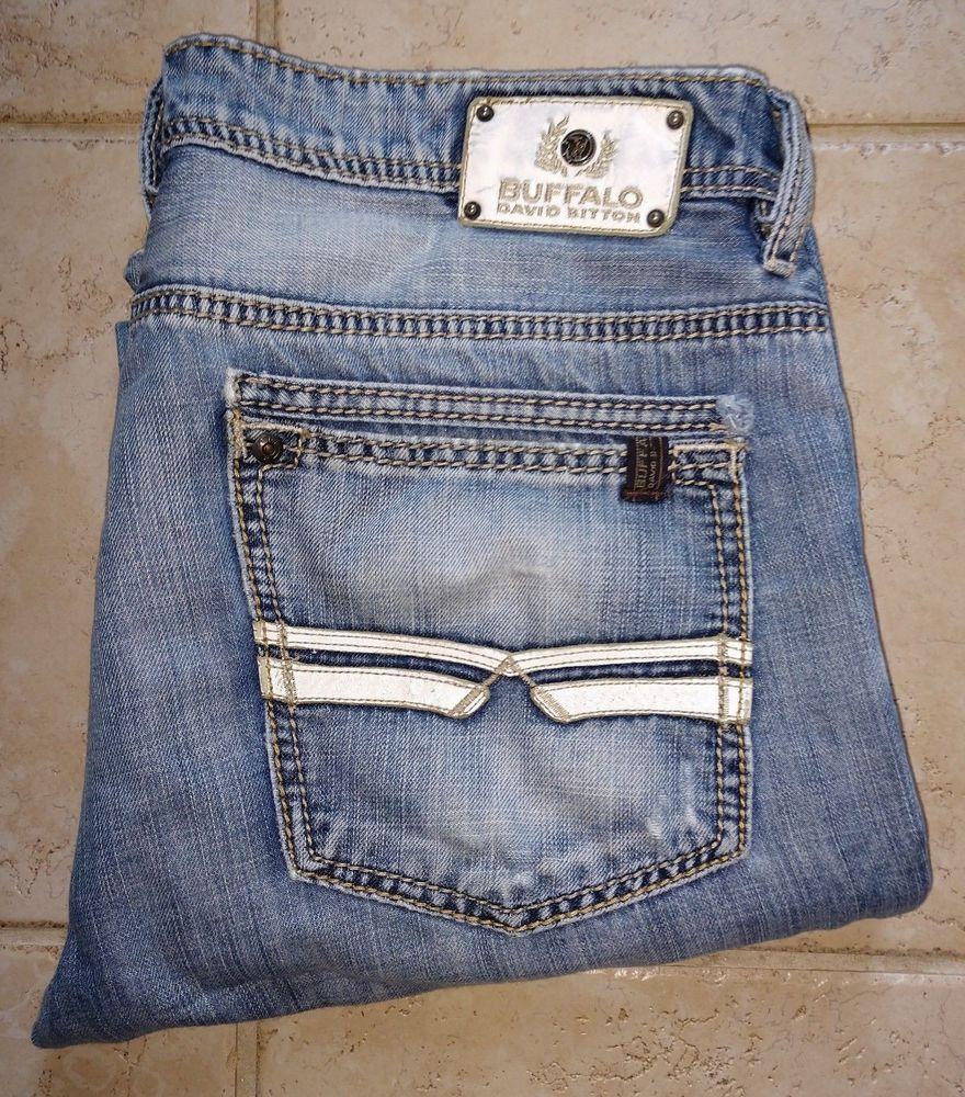 Buffalo David Bitton Mens Six Slim Straight Leg Jean in Rover