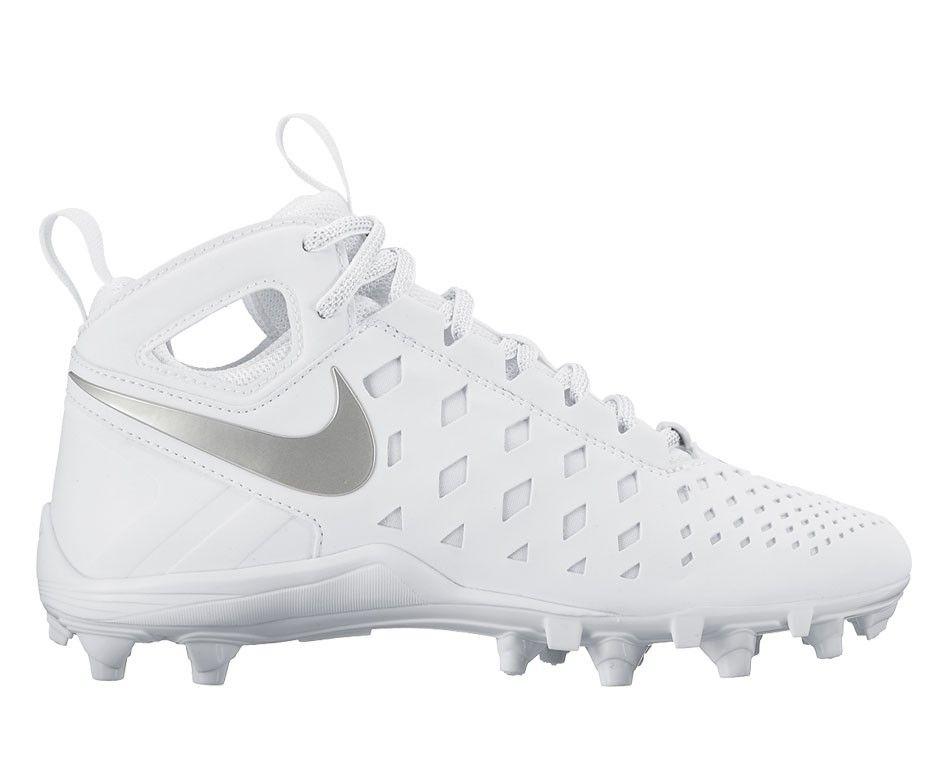 Nike Huarache 5 Youth Lacrosse Cleats - White/Silver ...