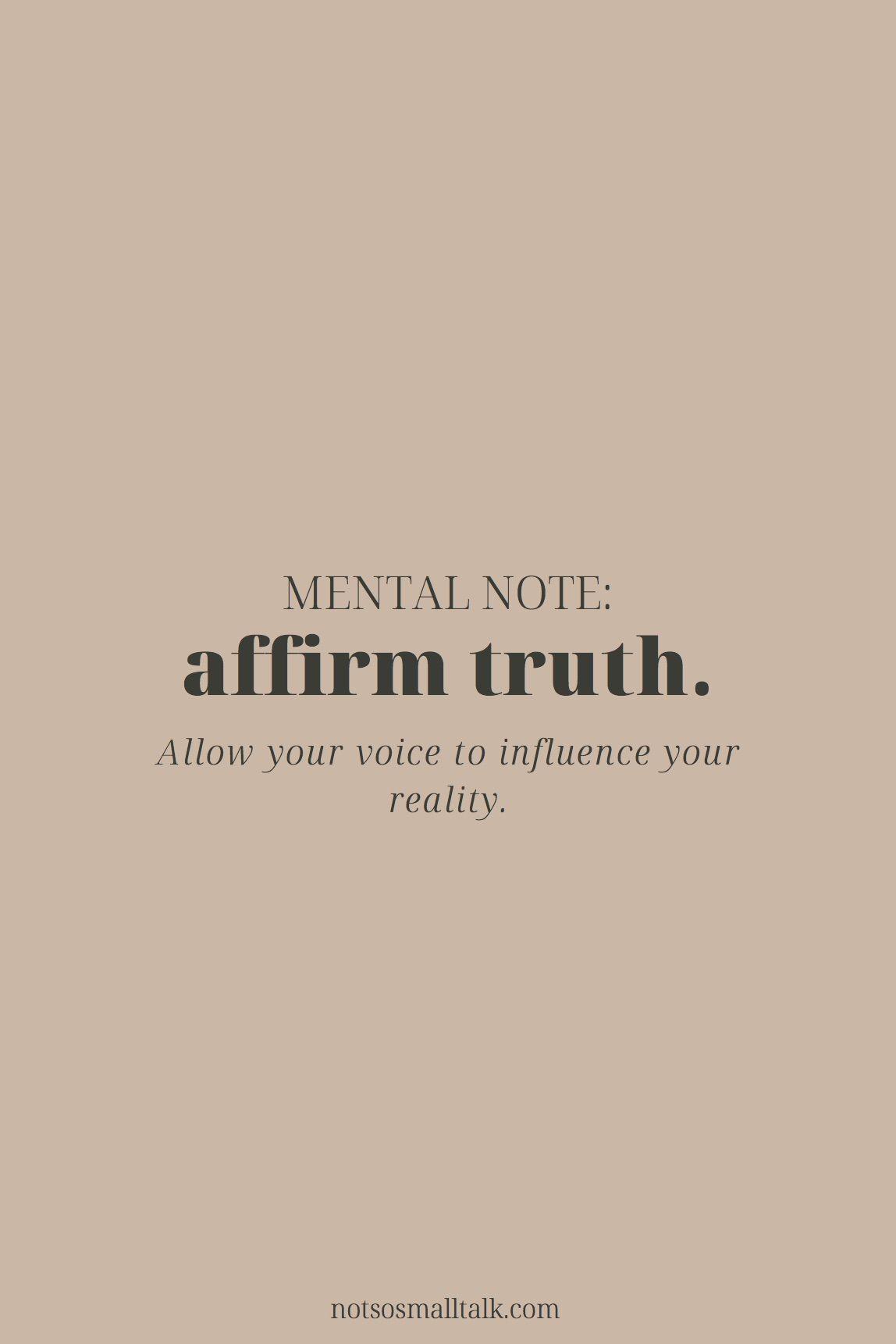 Affirm Truth