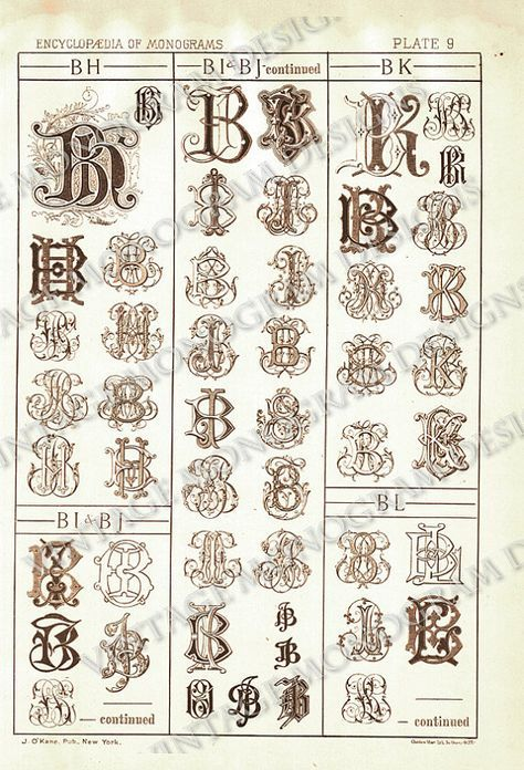 Encyclopedia Of Monograms Monogram Fonts Lettering Alphabet Monogram Letters