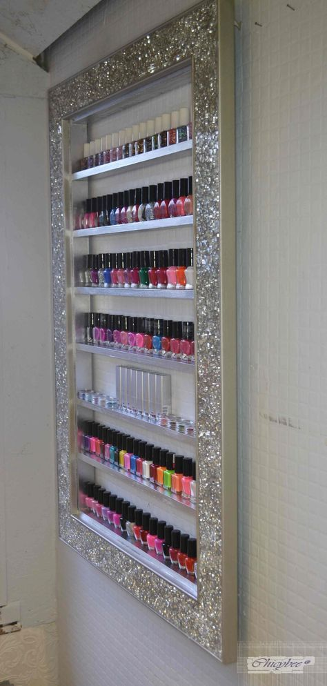 nail polish rack, display cabinet, make up organizer, makeup ...