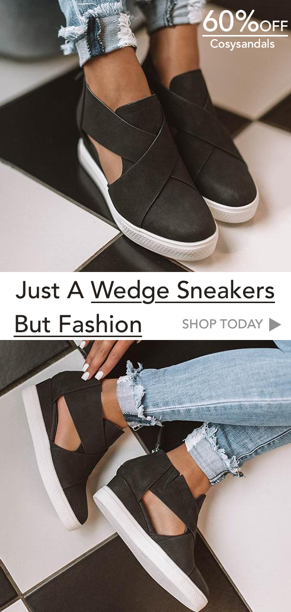 0f7c3636f4a Women Fashion Stylish Wedge Sneakers in 2019 | My style | Fashion ...