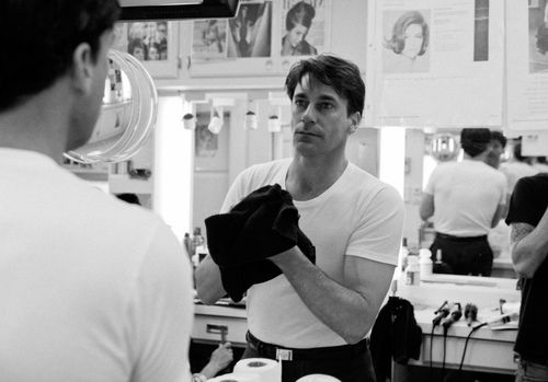 Jon Hamm on the set of Mad Men by James Minchin III   Jon hamm ...