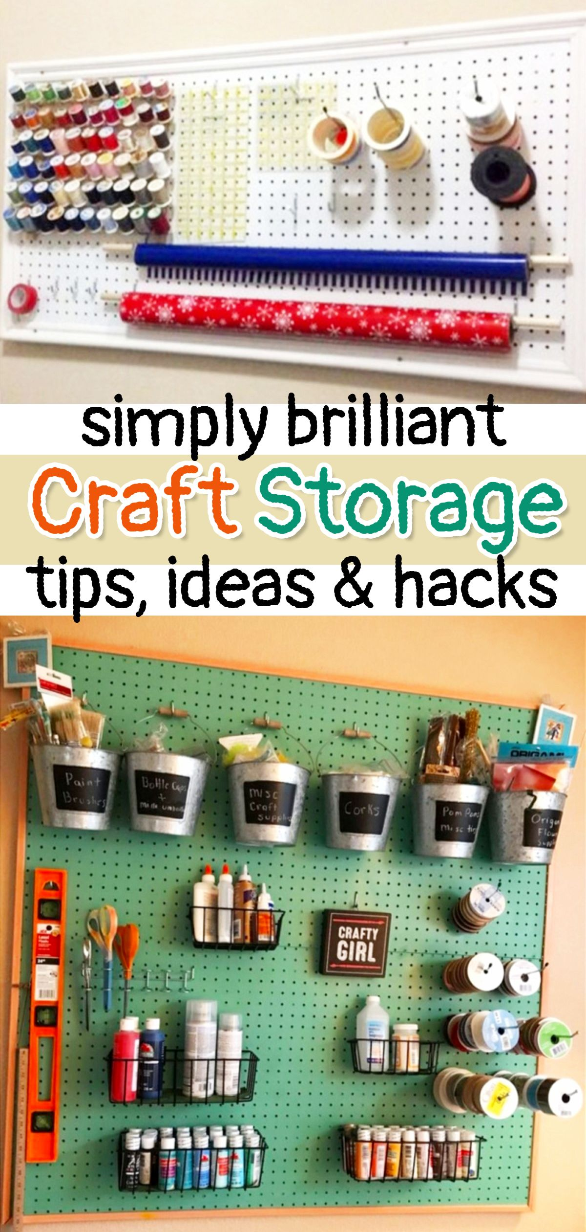 Diy Craftroom Organization Unexpected Creative Ways To Organize