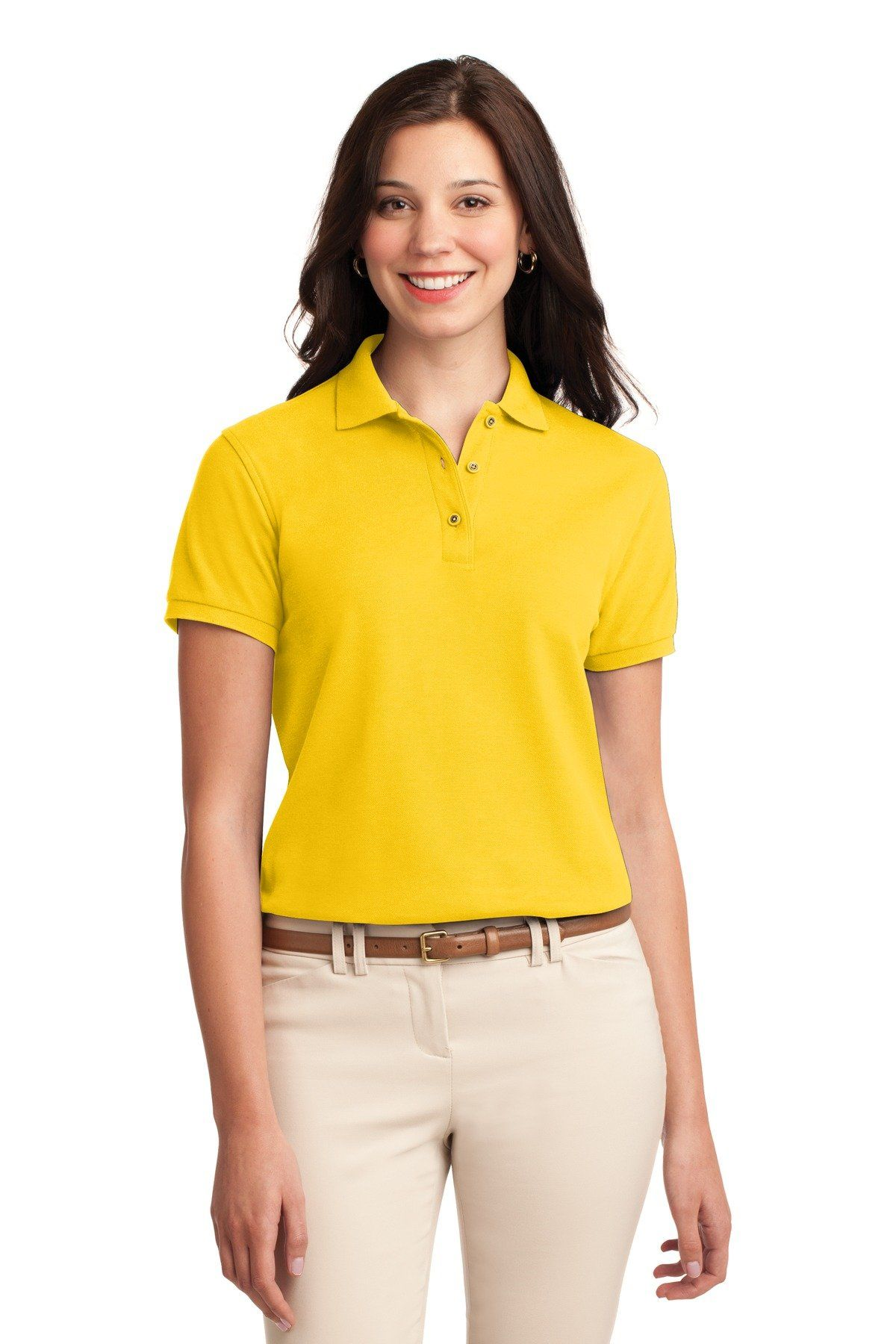 0c4c3cb59 Port Authority Ladies Silk Touch Polo L500 Sunflower Yellow ...