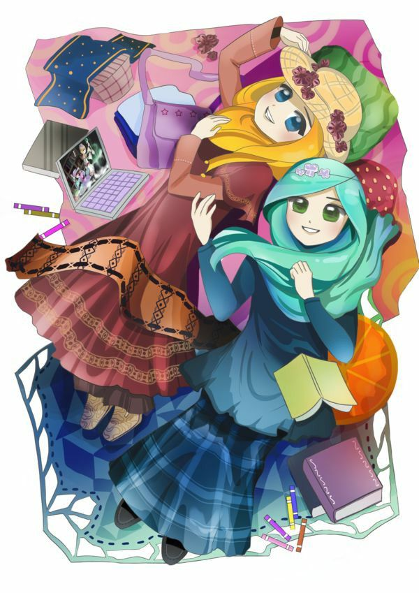 Studying Muslimah Muslim Pictures Islamic Anime Hijab Cartoon