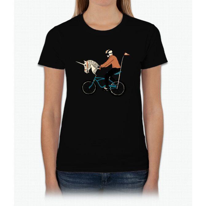 Unicycle Unicorn Womens T-Shirt