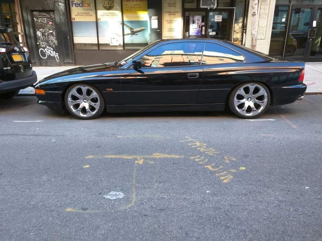 1992 bmw 850i e31 black on black 2 door coupe