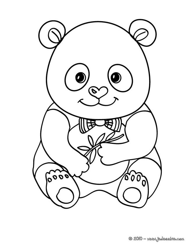 Coloriage d\'un bébé PANDA | My Coloring Pages | Pinterest | Panda ...