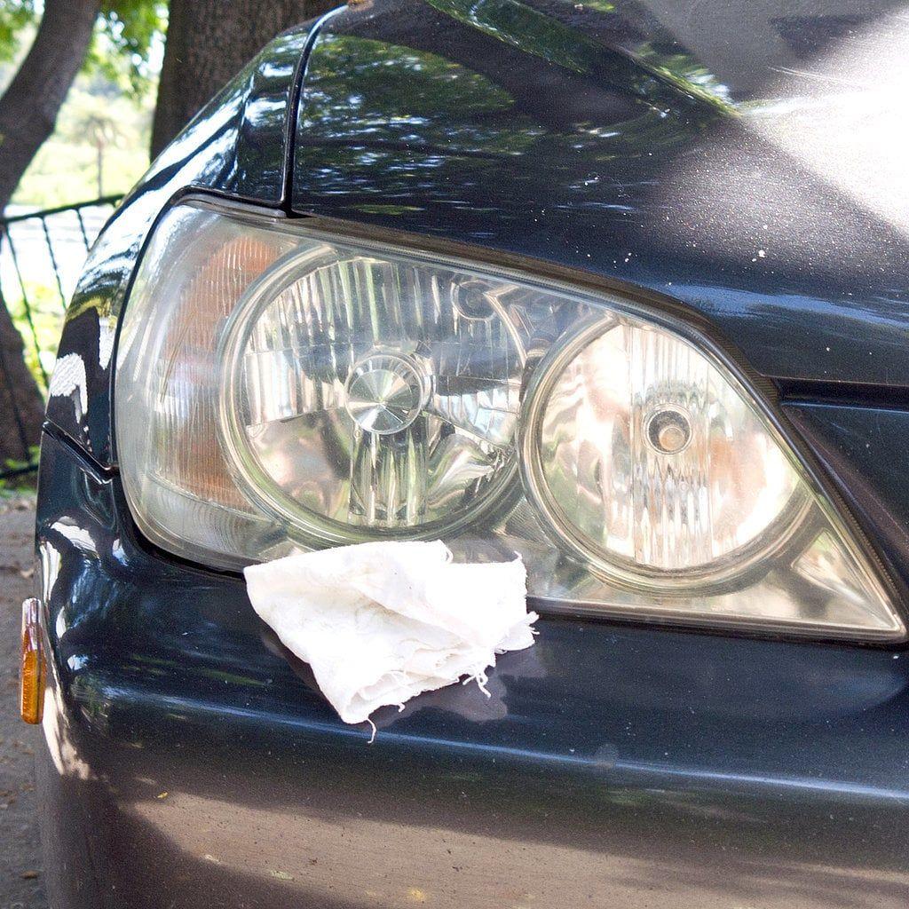 Buff headlights car cleaning hacks clean foggy