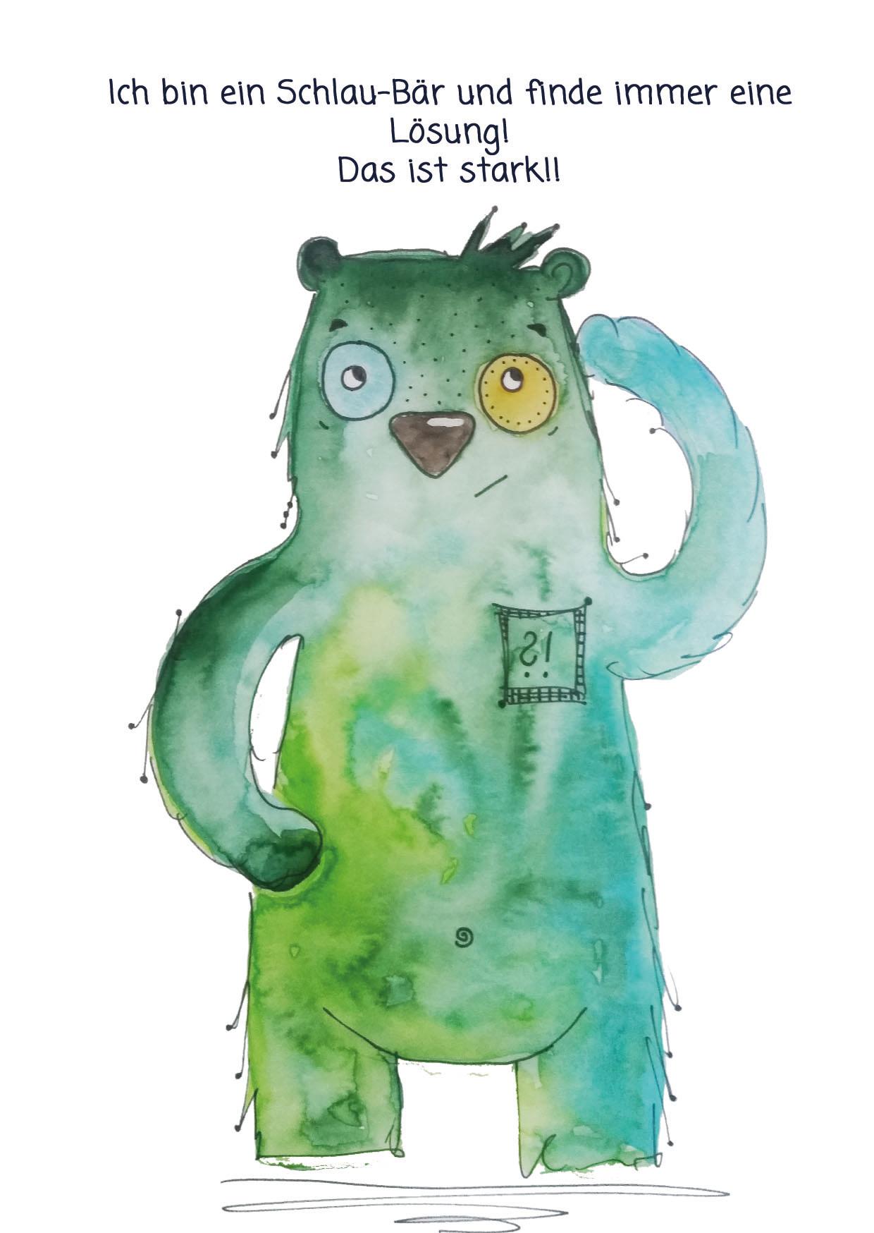 Schlau Bär Kraftkarte für Kinder | Motivation für Kinder | Pinterest ...