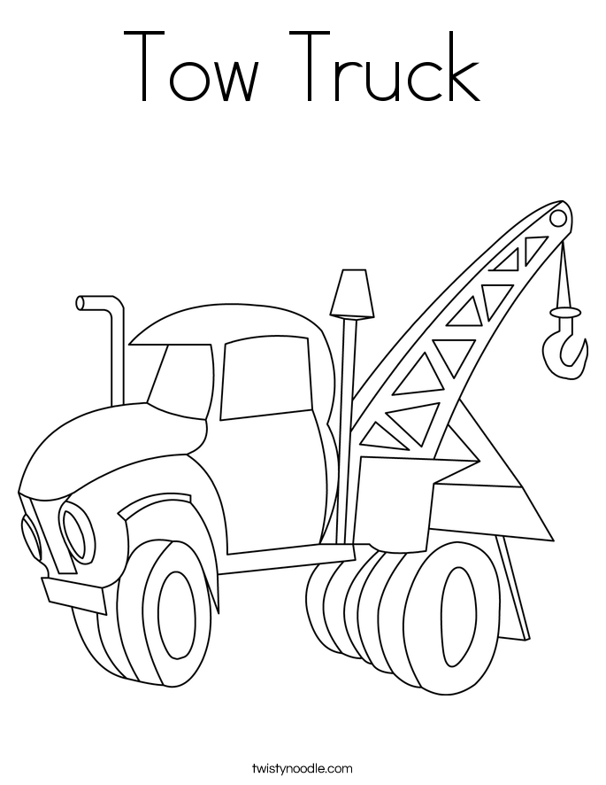 Tow truck coloring page printout google search