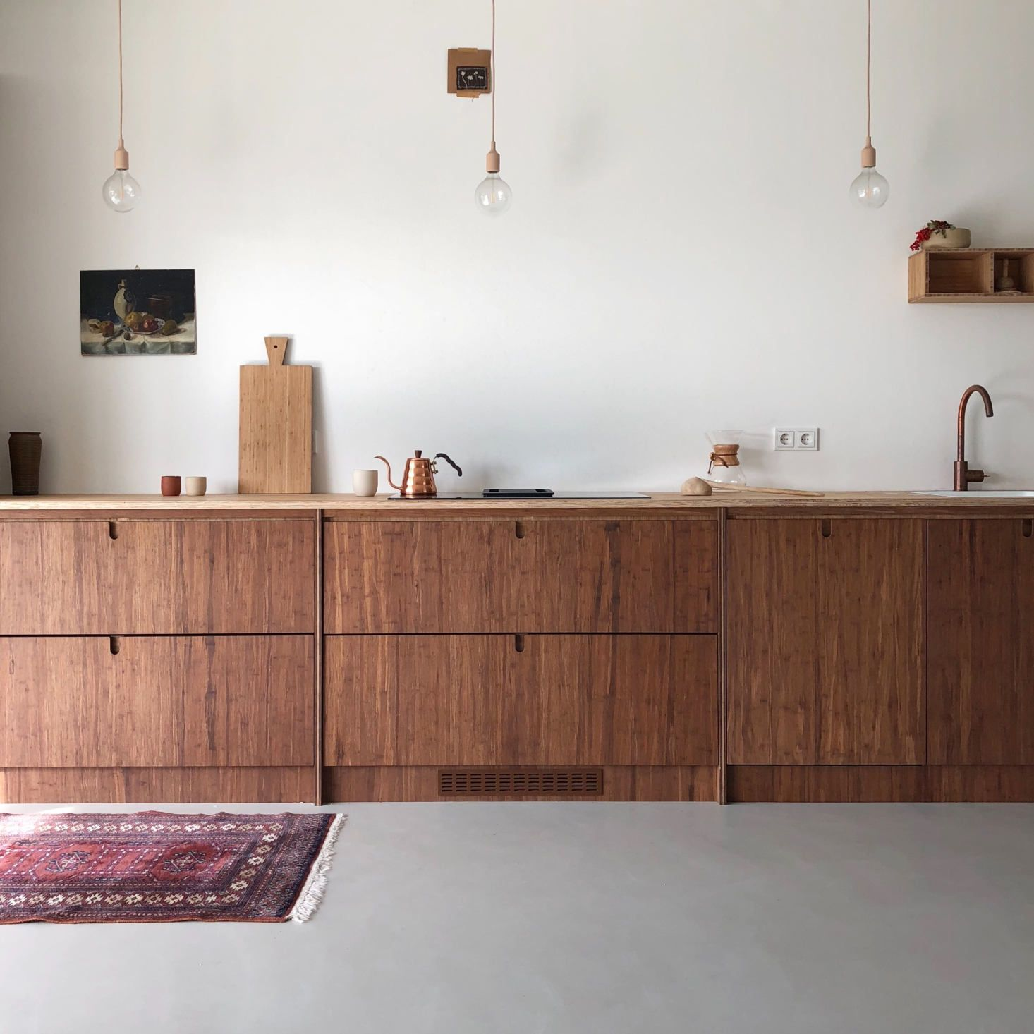 At Home With Instagram Star Sanne Hop And Her Family Of Six In The Netherlands Bamboo Kitchen Cabinets Bamboo Cabinets Wooden Kitchen Cabinets