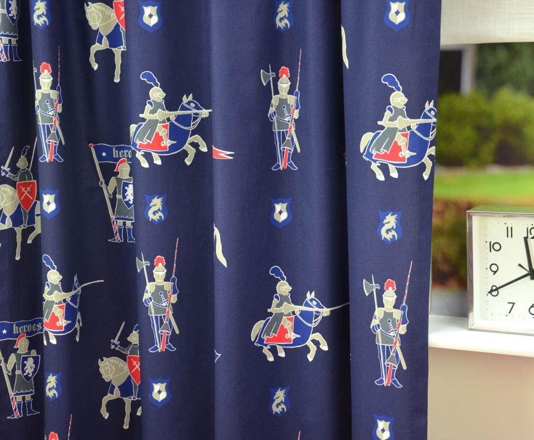 Babykamer Gordijnen Groens : Groen gordijn ridder est ridder kindergordijnen boyz