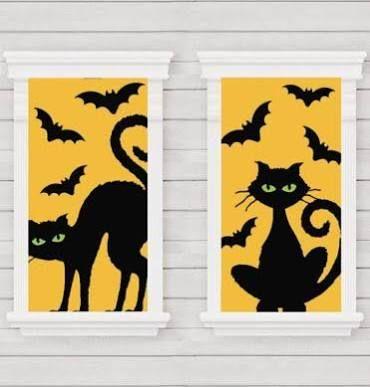 halloween window clings - Google Search Fall Window Decorations - halloween window clings
