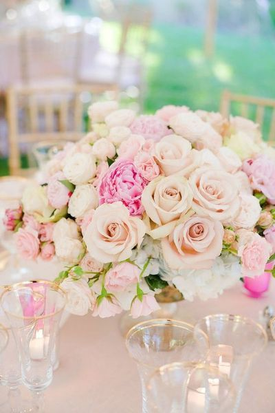 Garden Roses, Classic Roses, Peony Roses Centerpiece