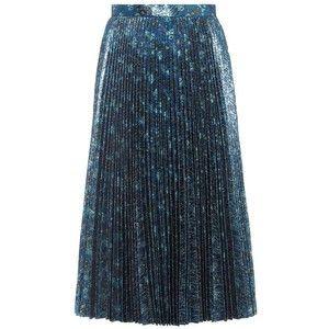 Prada Pleated Lamé Skirt