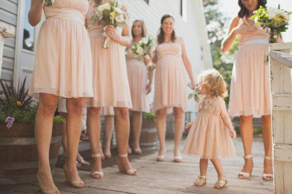 decked out in pink dresses by http://www.donna-morgan.com/ down to the littlest of littles  Photography by crissiemcdowell.com