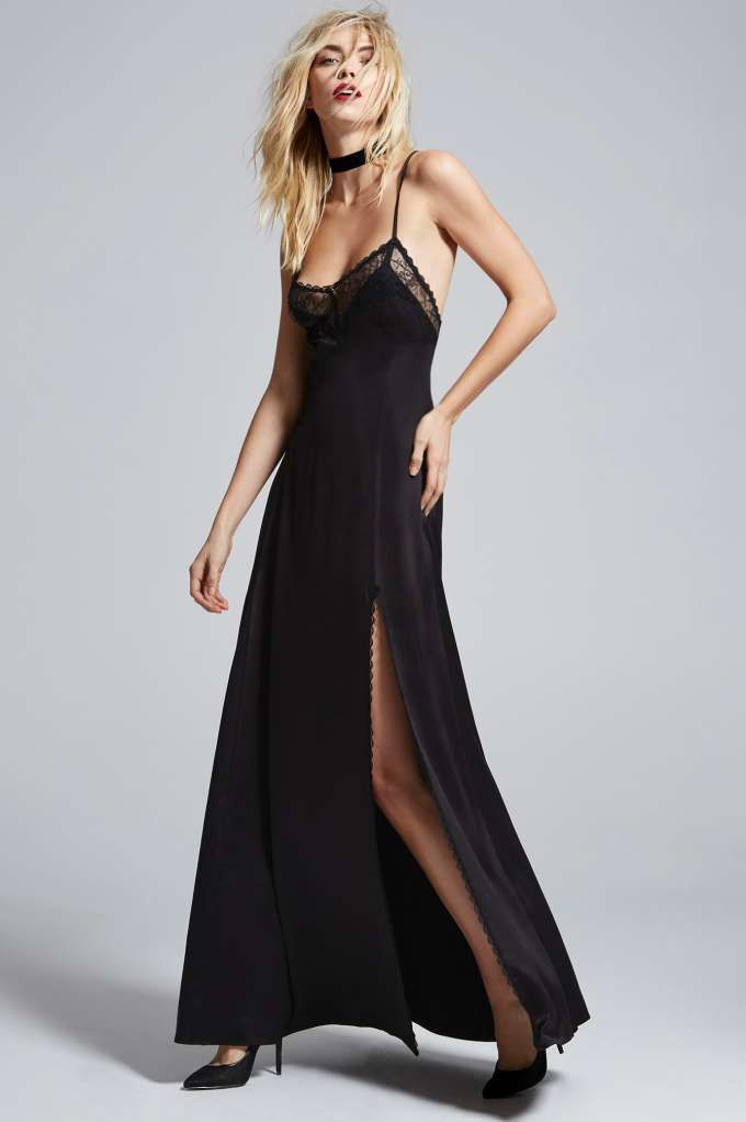 Love Courtney by Nasty Gal Once and Destroy Satin Maxi Slip ...