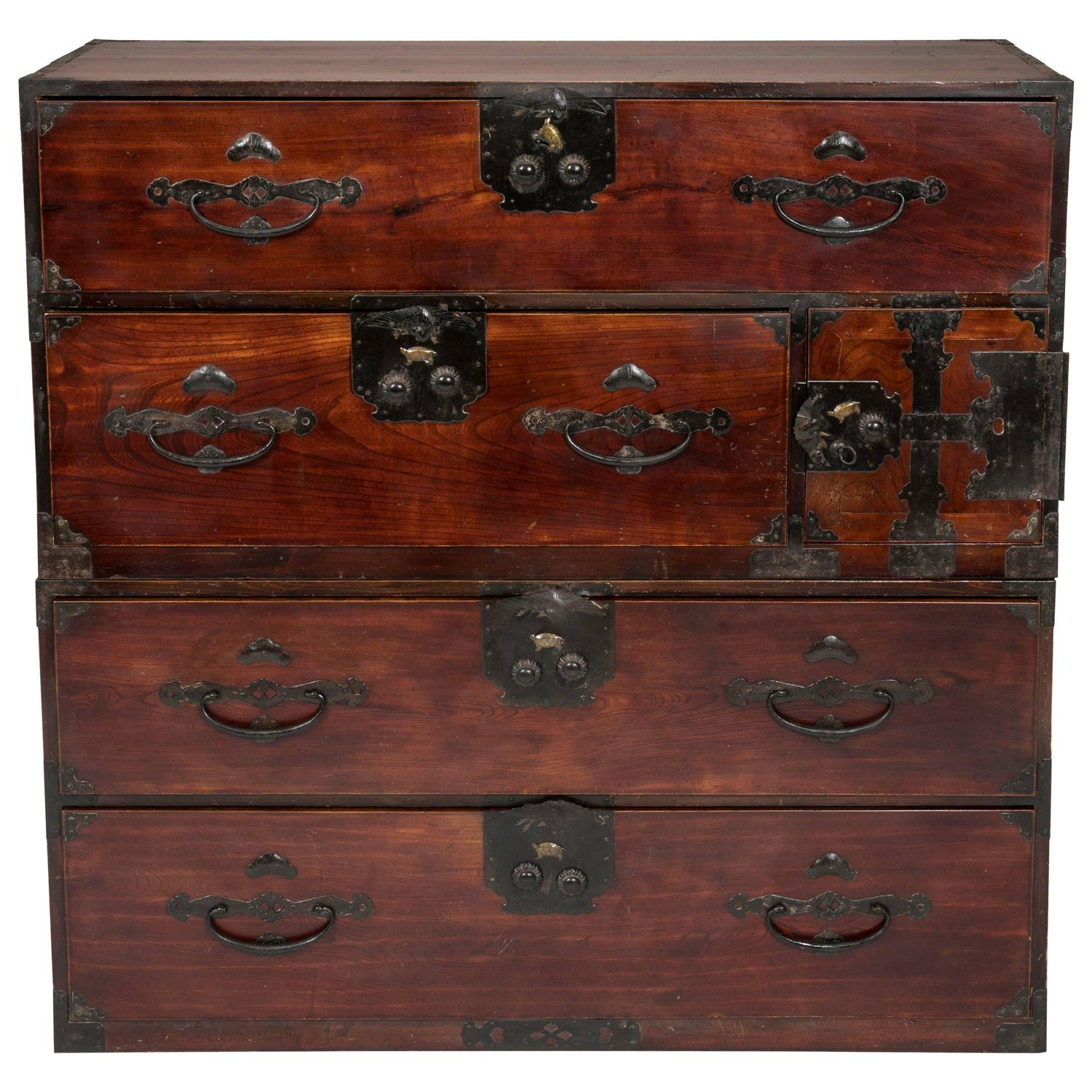 Antique Japanese Tansu Chest Of Drawers Antiques Drawers Chest